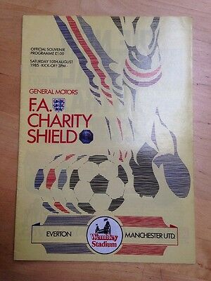 1985 FA Charity Shield Programme - Everton v Manchester United