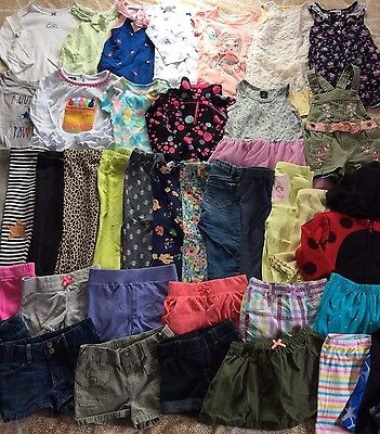 Great 40 Piece Summer Baby Girl Clothes Lot 24 Months 2T
