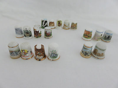 Collection of 18 Animal Thimbles : Caverswall, Birchcroft, Franklin ..........
