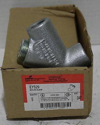 """Brand New Crouse-Hinds EYS29 (""""3/4"""") In Original Box 35 In Stock"""