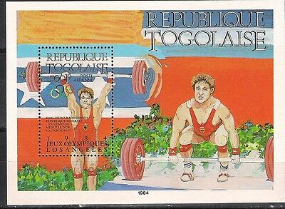 1984 LOS-ANGELES OLYMPIC  Togo overpr S/S MNH