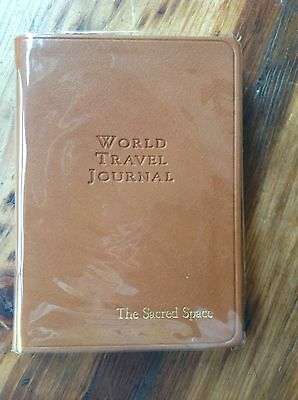 Graphic Image The World Travel Journal British Tan Leather Gold Gilt Edges