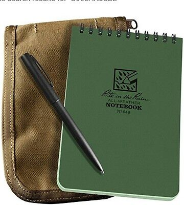 Rite in the Rain All Weather 4x6 Spiral Notebook Cordura Cover & Pen Kit #946