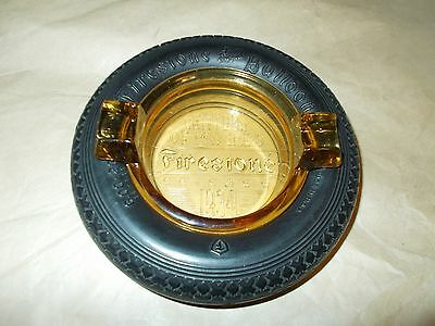1934 Chicago Century of Progress Firestone Balloon Tire Ashtray Embossed  Insert