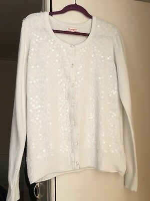 Beautiful White Cardigan, 12-13 Years, Bluezoo (Debenhams), Exc Condition