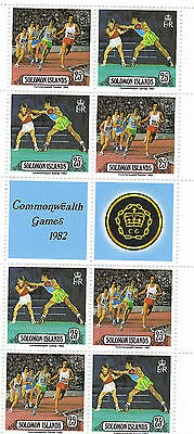 Solomon Islands Commonwealth games & Royal visit 1982 Miniature Sheets post free