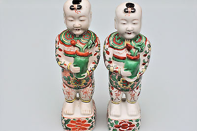 China  Kangxi Period - 18th Century Chinese Pair Porcelain Figurines He-He Twins