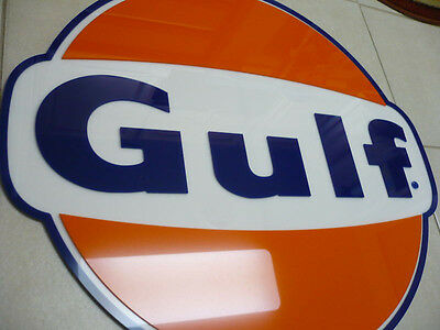 Gulf Sign 3D Gas Station