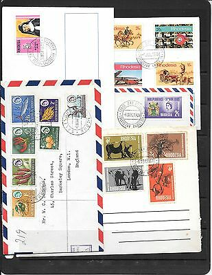 Rhodesia Stamps On Covers C563