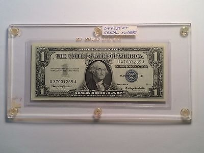 1957 B $1 Silver Certificate Different Serial Numbers Gem Uncirculated