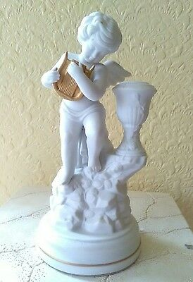 Gianni  Benvenuti  Franklin Mint  Bisque Cherub Candle Holder