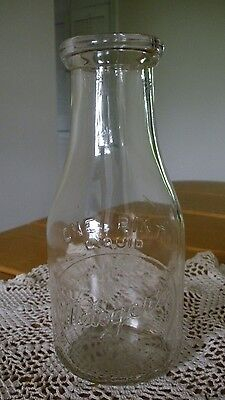 Vintage Metzger's Dairy One Pint Dairy Bottle ~ Hard To Find