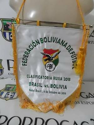 Brazil X Bolivia 2018 WC qualifiers official game pennant