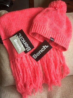 BNWT Pink Bench Hat And Scarf