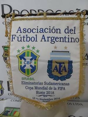 Brazil X Argentina 2018 WC Qualifiers official game pennant