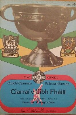 1981 football final offaly vs kerry and cork vs derry in minors