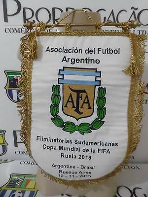 Argentina X Brazil 2018 WC Qualifiers official game pennant