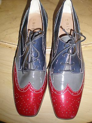NEW UNIQUE Beautiful TSITSIVAS PATENT Leather SHOES. sz 5 /38. Vintage style.