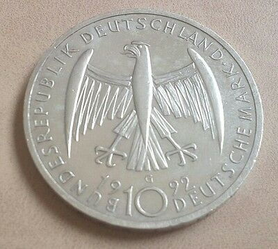 Alemania10 Marcos De Plata 1999 / Germany 10 Silver Mark 1999