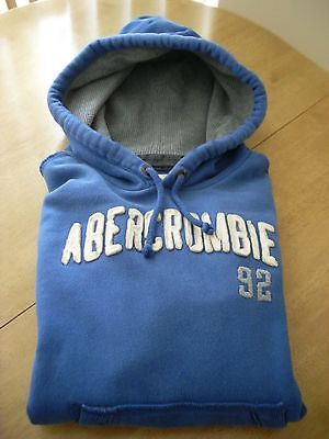 Abercrombie & Fitch Size M Medium Muscle Hoodie Blue