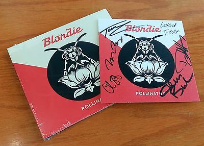 BLONDIE POLLINATOR SIGNED art card + CD. Autographed by Debbie Harry,Chris Stein