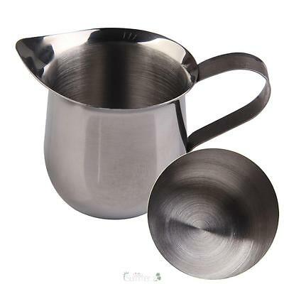 Stainless Steel Coffee Espresso Maker Shop Small Milk Cream Waist Shape Cup Jug