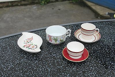 Withernsea Pottery dish, Victorian breakfast cup, Losol Ware Claremont, Coalport