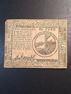 $2 Two Spanish Milled Dollars 1775 No. 5682