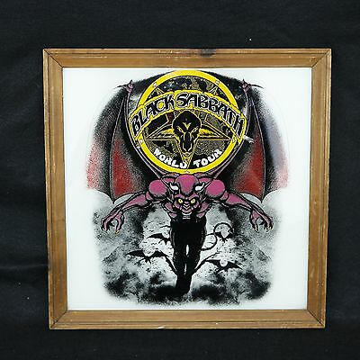 Black Sabbath World Tour c.1982 Wood Framed Picture Poster Carnival Fair Prize