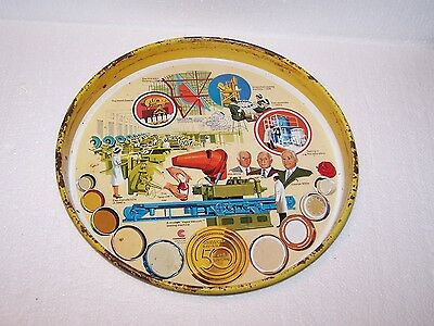 Vintage metal CCC continental Can Co White Cap Division 50 years tray 1926 1976