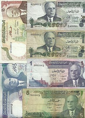 Lot 6 Billets Tunisie