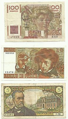 Lot 3 Billets France