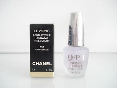 Chanel Vernis A Ongles Gris Obscur 538 Neuf + Boite Cadeau Opi !!!!