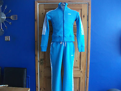 Womens Adidas Tracksuit, Size 12, Blue