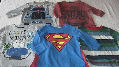 3-6 months 5pc BUNDLE All 100% Next Clothing Baby Boys Longsleeved Tops Top