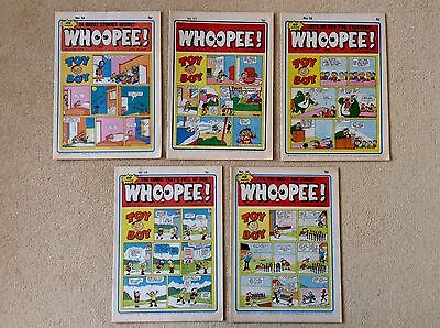 5 x WHOOPEE Comics ~ 1974 ~ No's 16, 17, 18, 19 and 20
