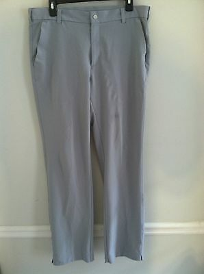 Nike Dri-Fit Tiger Woods Collection men's size 33X32 light gray golf pants EUC