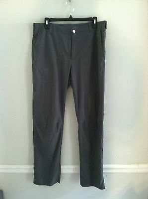 Nike Dri-Fit Tiger Woods Collection men's size 33X32 dark gray golf pants EUC