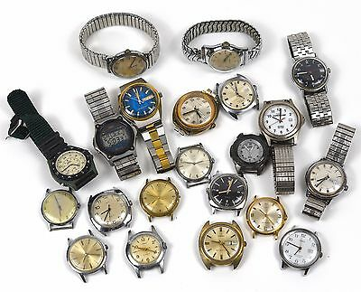 Lot of Vintage Modern Quartz Wind Up Automatic Timex Watches FOR PARTS REPAIR