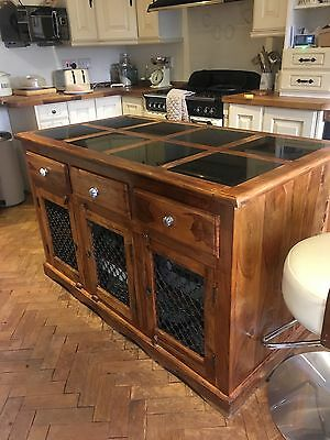 Freestanding kitchen island unit, granite surface