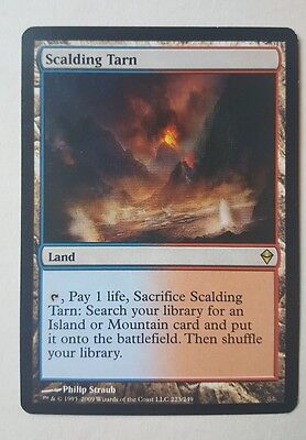 MTG Magic The Gathering Zendikar Scalding Tarn Land Near Mint