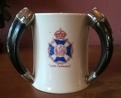 Rare Tri-Horn 1908-24 Cup/ Trophy. Society of Miniature Rifle Clubs Skill Award