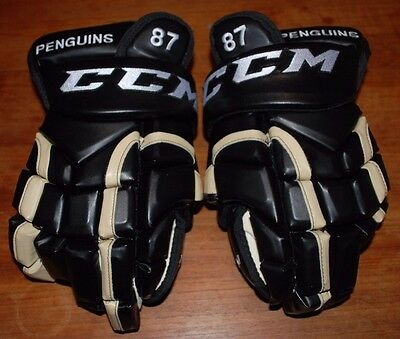 New Ccm Sidney Crosby Pittsburgh Penguins Nhl Pro Stock Hockey Gloves