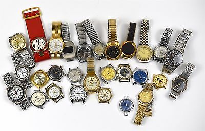 Lot of Vintage Modern Wrist Watches Mechanical and Quartz FOR PARTS REPAIR