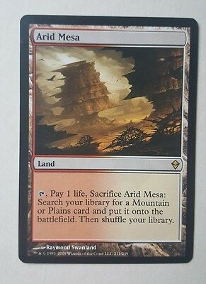 MTG Magic The Gathering Zendikar Arid Mesa Land Near Mint