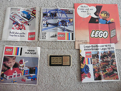 Lego Vintage Catalogues, 1969, 1974, French/German 1970, Golden Studs, Tracks..