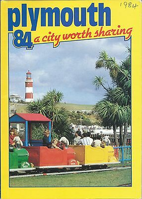PLYMOUTH 1984 Official Holiday Guide & street map illustrated & adverts Devon