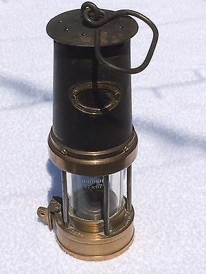 MINERS SAFETY LAMP BRASS - PATTERSON LAMPS LTD TYPE A3 No. 3539