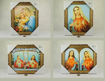 Jesus & Mary 20x25cm HOLY PICTURE in frame choose your design