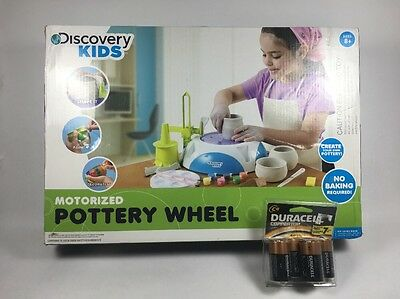 New Discovery Kids Motorized Pottery Wheel New 4 C Batteries NIB For Pedal Clay